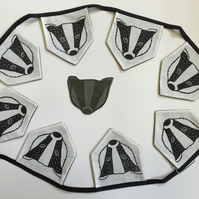 Badger Bunting
