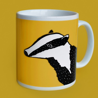 Yellow Badger Mug