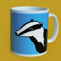 Blue Badger Mug