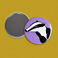 Lilac Badger Pocket Mirror