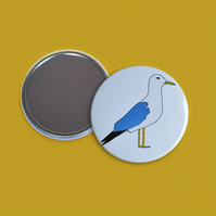 Seagull Print Pocket Mirror