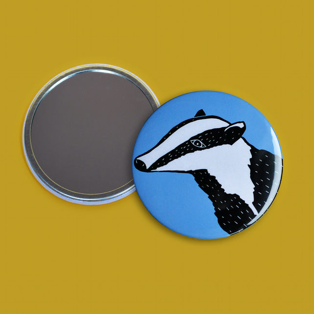 Blue Badger Pocket Mirror