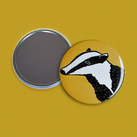 Yellow Badger Pocket Mirror