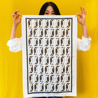 Penguin Print Tea Towel