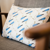 Seagull Print Cushion