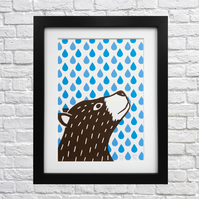 Rainy Days Screen Print