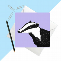 Lilac Badger Card