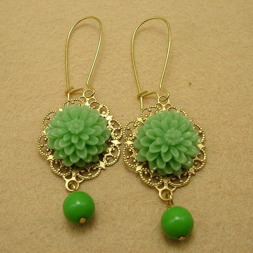 Vintage style Filigree Earrings