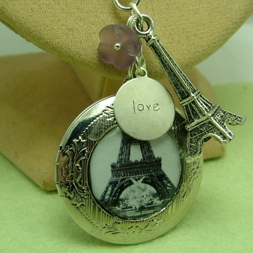 I Love Paris Locket necklace