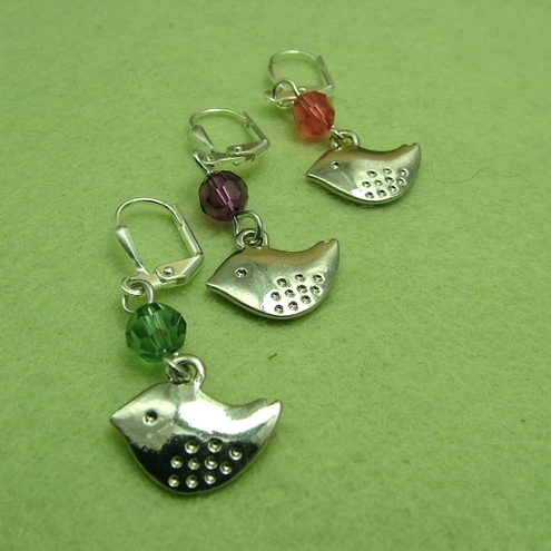 Twitter Earrings * 2 colour choices * (WTbie1)