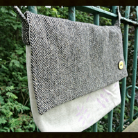 Satchel made with vintage tweed