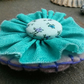 NEW! Rosette Style Brooch, turquoise