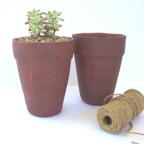 Rustic Plant Pot with Bird motif