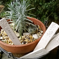Large Pack of six Garden Plant Markers