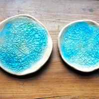 Melted Glass Twin Stacking bowls
