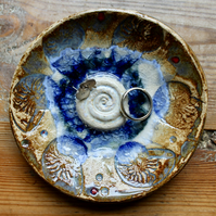 Ammonite and recycled glass ceramic bowl (second)