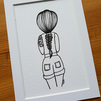 'Braid Girl' Print