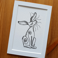 'Snooty Hare' Print