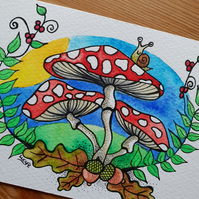 'Toadstools' Original Painting