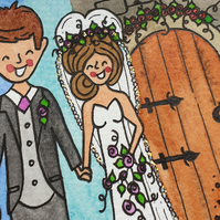 Wedding Illustration to Frame