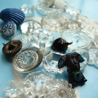 Glass Vintage Buttons