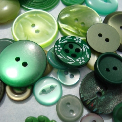 Green Vintage Buttons