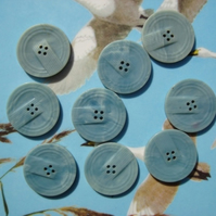 Vintage Set of Blue Buttons
