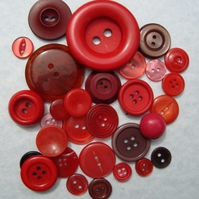 Vintage Red Buttons
