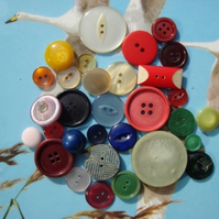 Rainbow Vintage Buttons