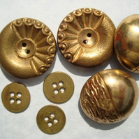 Brass Vintage Buttons