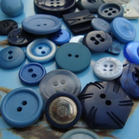 Vintage Blue Shades Buttons
