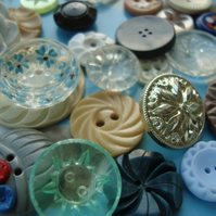 Vintage Flower Buttons
