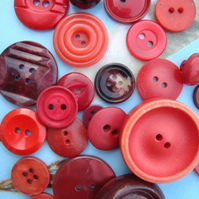 Vintage Red Shades Buttons