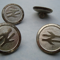 Vintage British Rail Buttons