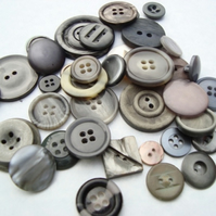 Vintage Grey Buttons