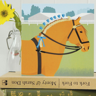 Suffolk Punch Horse Card - farm, animal, birthday