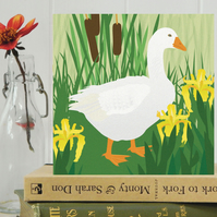Goose Card - farm, animal, birthday, Easter