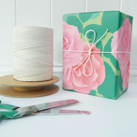 Pink Roses Gift Wrapping Paper - Single Sheet