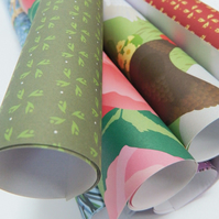 Mixed Gift Wrapping Paper - Any five sheets of any design!
