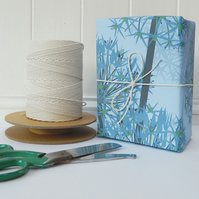 Winter Allium Gift Wrapping Paper - Single Sheet, eco friendly, recyclable