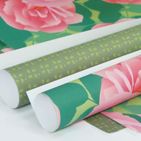 Rose and Pinwheels Gift Wrapping Paper Multipack