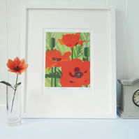 Poppies Giclee Print - art print, flower, unframed