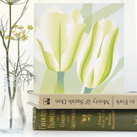 Spring Green Tulip card - birthday, Easter