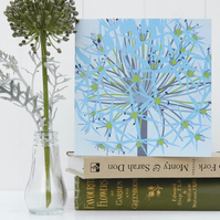 Winter Allium Christmas Card - winter garden