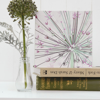 Giant Allium Card - flower, floral, for gardeners