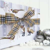 Fox and Pheasant Christmas Gift Wrap Set