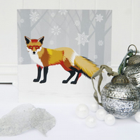 Winter Fox Christmas Card