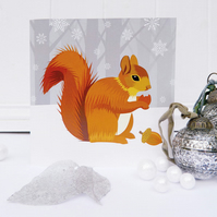 Winter Squirrel Christmas Card