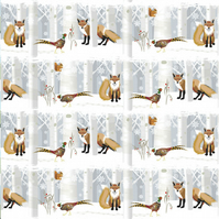 Fox & Pheasant Christmas Gift Wrapping Paper