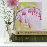 Pink Dicentra Card - Bleeding Heart, birthday, Mothers Day